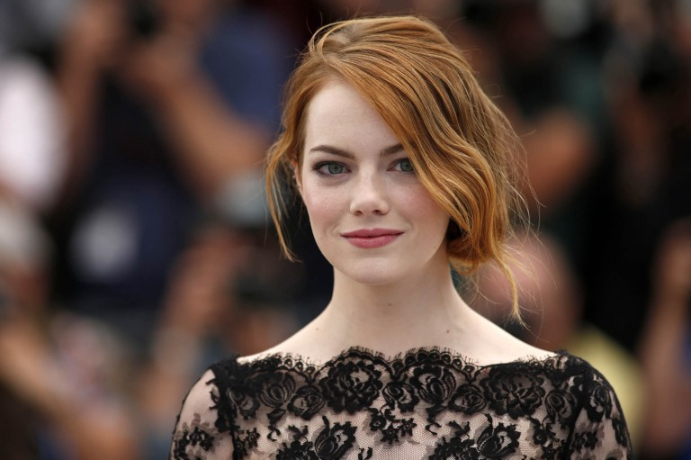 Cast member Emma Stone poses during a photocall for the film